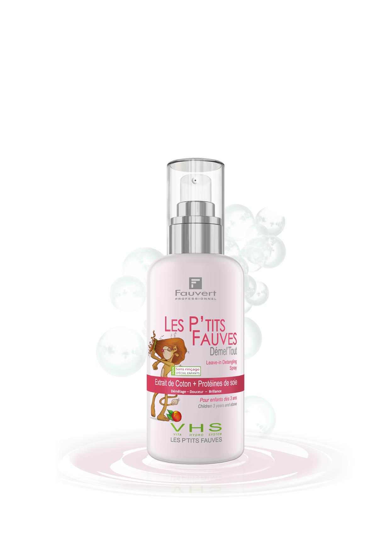 Demel'Tout Antiziep-Spray - Leave-in - Kinderpflege - Vita Hydro-System - Les PTit Fauves - 200ml